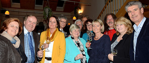 Vorstand TfKV und Sponsoren und Mitglieder genossen den schönen kulinarischen Abend