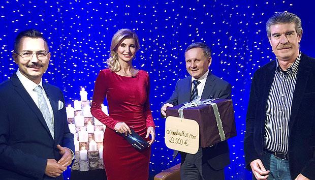 Spendenübergabe im ORF: 23.500 Euro für regionale Projekte